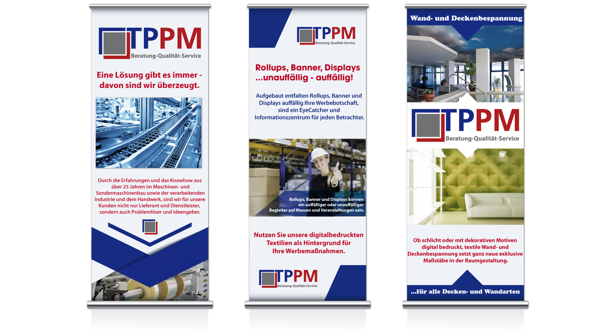 Rollups, Banner, Displays von der TPPM